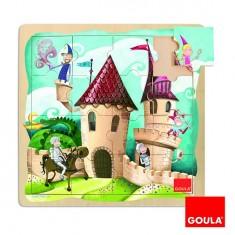 Puzzle 16 pièces en bois : Puzzle château