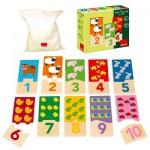 Puzzle duo 1-10 : 20 pièces en bois