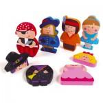 Puzzle personnages magnétiques : 12 pièces en bois