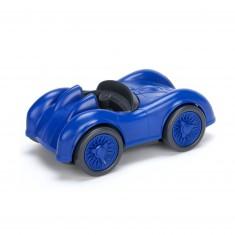 La voiture de course bleue