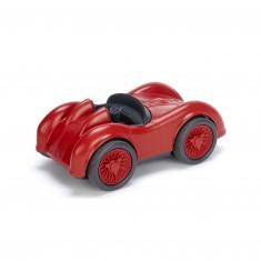 La voiture de course rouge