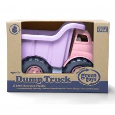 Le camion à benne rose et violet