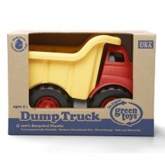 Le camion à benne rouge et jaune