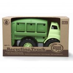Le camion poubelle de recyclage vert
