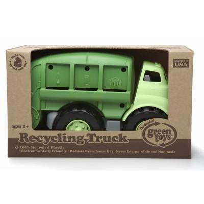Camion de recyclage de jouets verts
