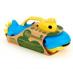 Le sous-marin pour le bain jaune et bleu