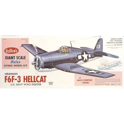 Maquette avion en bois : F6F-3 Hellcat - Guillows-0281005