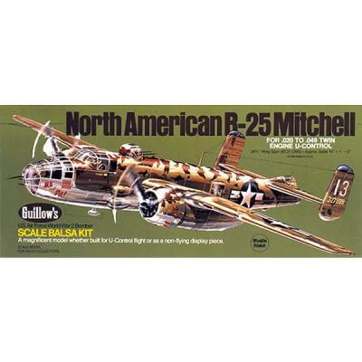 Maquette avion en bois : B-25 Mitchell - Guillows-0280805