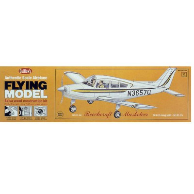 Maquette avion en bois : Beechcraft Musketeer - Guillows-0280308