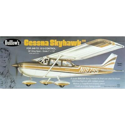 Maquette avion en bois : Cessna Skyhawk - Guillows-0280802