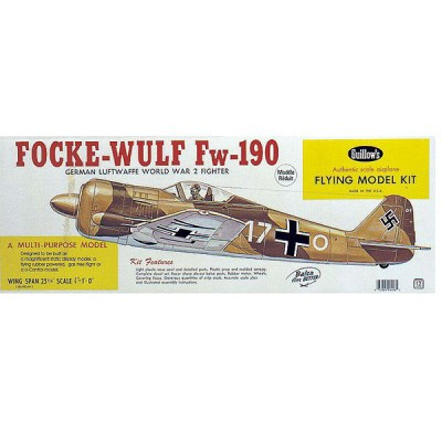 Maquette avion en bois : Focke Wulf FW-190 - Guillows-0280406