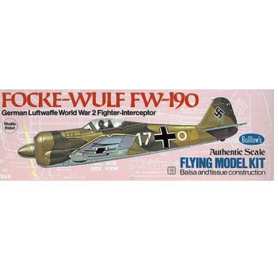 Maquette avion en bois : Focke Wulf FW-190 - Guillows-0280502