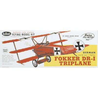 Maquette avion en bois : Fokker DR-1 Triplane - Guillows-0280204