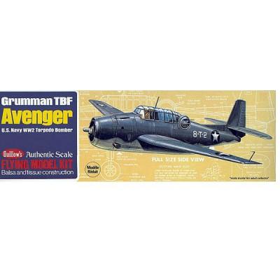 Maquette avion en bois : Grumman TBF Avenger - Guillows-0280509