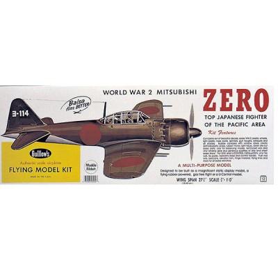 Maquette avion en bois : Mitsubishi Zero - Guillows-0280404