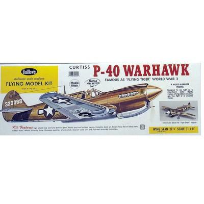Maquette avion en bois : P-40 Warhawk - Guillows-0280405