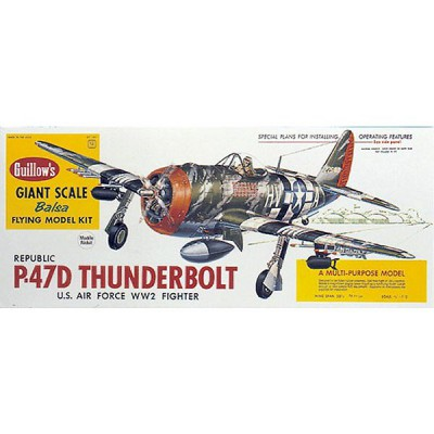 Maquette avion en bois : P47-D Thunderbolt - Guillows-0281001