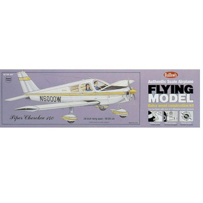 Maquette avion en bois : Piper Cherokee 140 - Guillows-0280307