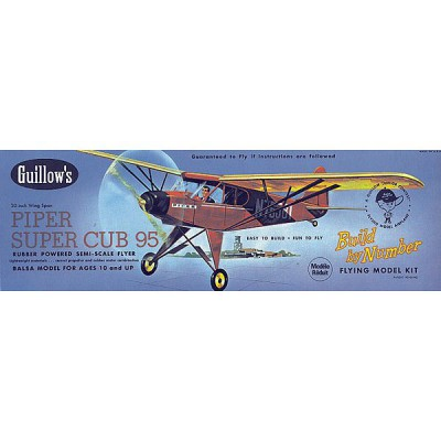 Maquette avion en bois : Piper Super Cub - Guillows-0280602
