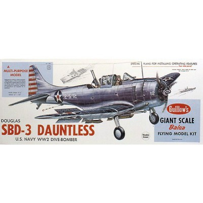 Maquette avion en bois : SBD-3 Daultless - Guillows-0281003