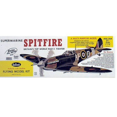 Maquette avion en bois : Spitfire - Guillows-0280403