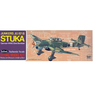 Maquette avion en bois : Stuka JU-87B - Guillows-0280508