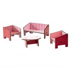 Accessoire maison de poupées : Little Friends : Salon