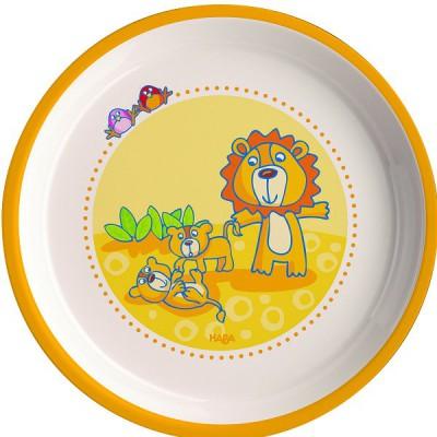 assiette en m lamine famille de lions 18 cm haba magasin de jouets pour enfants. Black Bedroom Furniture Sets. Home Design Ideas