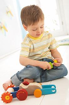 Blocs visser haba petite taille jeux et jouets haba for Bloc porte petite taille