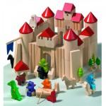 Château de cubes en bois
