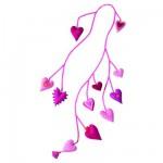 Guirlande Pia  : Coeurs