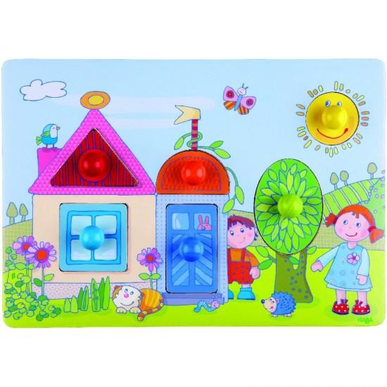 Puzzle : Dans le jardin - Haba-7391