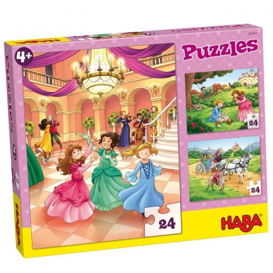 Puzzle 3 x 24 pièces : Princesse Mina - Haba-300443