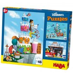 Puzzle 3 x 48 pièces : Monsieur René