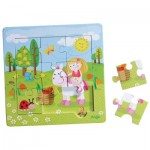 Puzzle Cadre en bois 9 pièces : Le Jardin Féérique