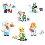Puzzles 2 à 4 pièces : 6 puzzles Mes premiers puzzles : Les métiers