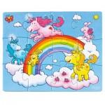 Puzzles de 12 à 18 pièces : 3 puzzles : Licornes dans les nuages