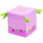 Siège cube de rangement Couronne fleurie