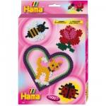 Boîte de 1500 perles et plaques Hama Midi : Plaque coeur
