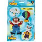 Boîte de 1500 perles et plaques Hama Midi : Plaque hexagonale