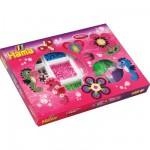 Boîte de 2400 perles et plaques Hama Midi : Hippocampe/Fleur