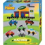 Boîte de 3000 perles et plaques Hama Midi : La course de voitures