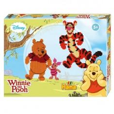 Boîte de 4000 perles et plaques Hama Midi : Winnie l'ourson