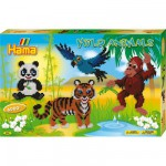 Boîte de 6000 perles et plaques Hama Midi : La fête au zoo