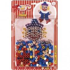 Boite de 250 perles Hama Maxi Technique à repasser : Clown