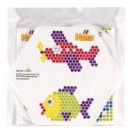 Cartes de modèles en couleur pour perles Hama Midi : Poisson et avion