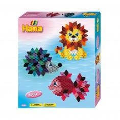Kit de perles Hama midi : Animaux colorés