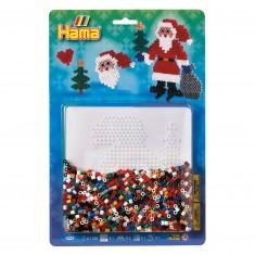 Kit de perles Hama midi : Père Noël