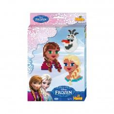 Kit de perles thématique Hama midi : Visages La Reine des Neiges (Frozen)
