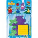Plaques pour perles à repasser Hama Midi : Hippopotame/Crocodile